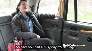 British babe gets tight ass banged in fake taxi