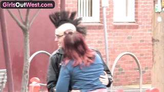 Bombshells Out West - Inexperienced punk couple drilling