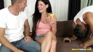 Sweetie teasing dudes