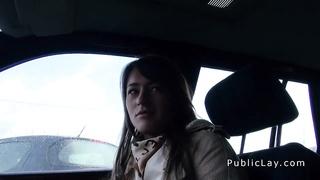 Russian rookie beauty drills in public pov