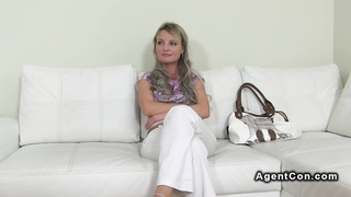 Blonde Czech amateur babe has hardcore casting