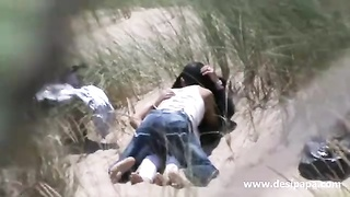 indian amateur couple outdoor