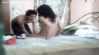 Indian College Lovers hard fuck at home