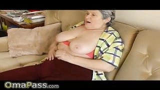 277825OmaPass Fat Woman Grandma playing with adult toy