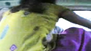 Bangladeshi couple making out in automobile