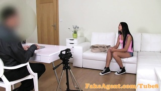 FakeAgent 18 year aged cutie got laid hard in interview
