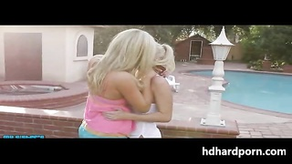 Blonde sisters slut threesome
