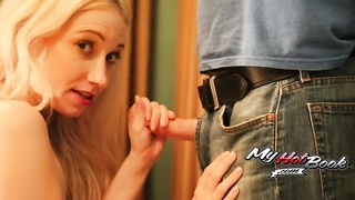 Maren Beautte is a cute brunette teen that takes off her halter to