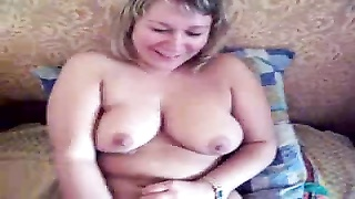 Big Titted tanned Big Beautiful Woman broad is getting your hands on inserted into in her little cel