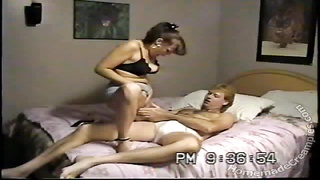 Big-tit house-wife is jumping on my cock without humiliate at all