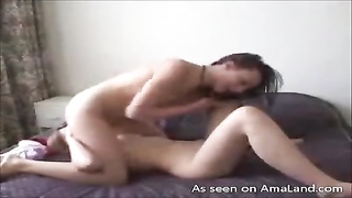 Advanced oral sex with well-shaped ex-bf in 69 pose