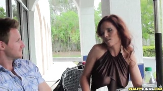 Largest redhead mom is getting your mitts on seduced and banged on digital camera