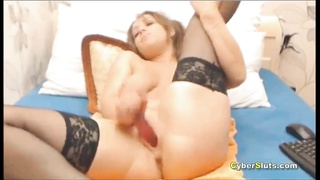 Big Woman MILF Double Squirt Masturbation and Ass Sex