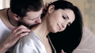 In Depth penetration for a very best as hookup dark haired in bedroom!