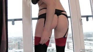 Redhead stunner takes a nice schlongs in exactly the movie by I Know That Dame