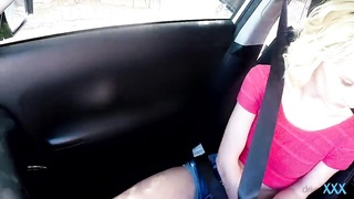 Driver Hard-core presenting stunning pick up get it on with with young blond