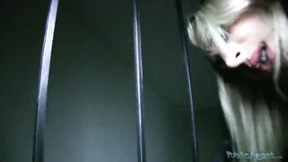 Fascinating sex with a spicy blond in precisely the movie by Public Agent