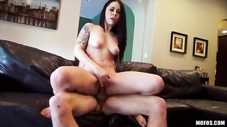 Inexperienced cock-riding action in precisely the flick by I Know That Chick