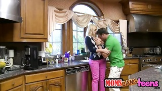Big-ass blond milf is seducing hot as hell bf