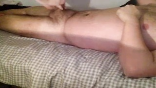 Short sweetheart getting fucked in pantyhose with overweight man