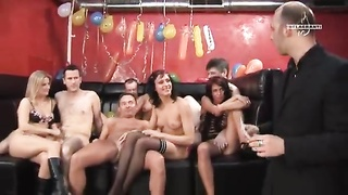 Insane unusual swing birthday party with young and aroused hotties