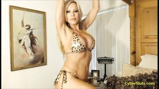 Fitness Model in Bikini and High Heels