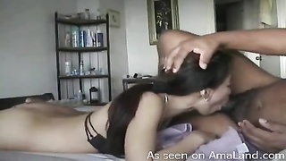 Chinese former bf is swallowing gigantic ebony wiener