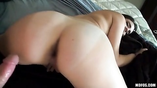 POV flick with aggressive female-domination showing off her mobile