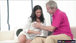 Coco De Mal sucks and licked by grandpa