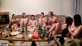 Dana & Janet Haven & Kristine Crystalis & Sonja in flick of a high school group-sex party with assor