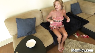 44 year grew up Cougar takes jizz facial