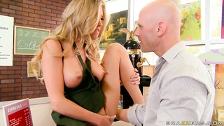 Johnny Sins loves with aroused blond Samantha Saint