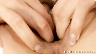 Cruel brown-haired sweetheart Shalina Divine was finger fucking her shaved coochie until her female