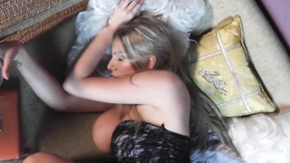 Modern big-breasted newbie is if truth be told having fun with masturbation