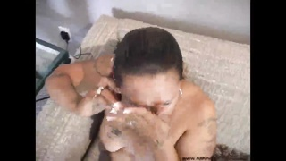 Curvaceous big chested chick is doing anal banged doggy-style