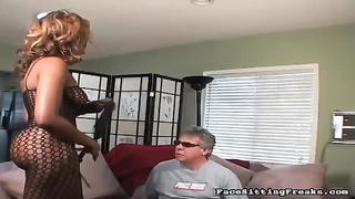 Big-ass black having nice smothering action with mature sex-slave