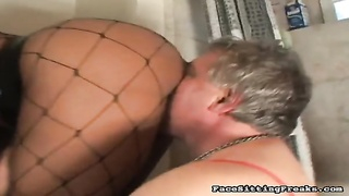 Grew Older sex-slave throat her scrumptious ebony bung hole and slit