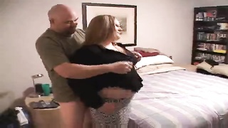 Sleezy homemade Overweight Woman is being clamped hard in her bodacious vag