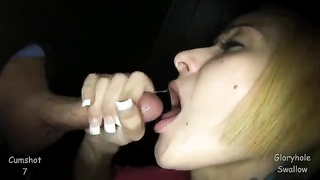 295492Delightful short-haired blond is throating a large penis in precisely the close-up