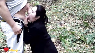 Homemade female friend is providing a mouthwatering mouth fuck correct in exactly the woods
