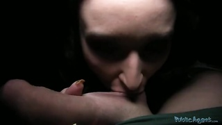 Ruthless dark-haired is giving a blowjob of a Public Agent in precisely the engaging movie