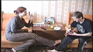 Big-boobed Russian milf is seducing a lovely stud in exactly the constructing