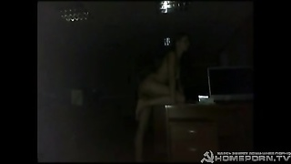 Bitchy young cutie is having fun with his rigid hard-on in her little vag