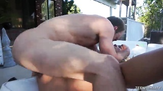 Fairly slutty blond having fun with bitchy outdoor sex with her recent fucker