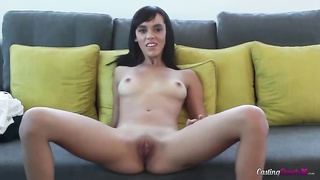 Small-tit young ho is undressing and playing with her cellular phone