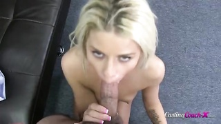 Slutty young blond is humping in her harmless face