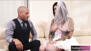 Bride to be Juliana Rose deeply pounded