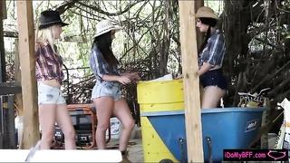 Hot ass cowgirls shared a hard man meat