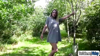 Tamara Grace makes an outdoor sex tape