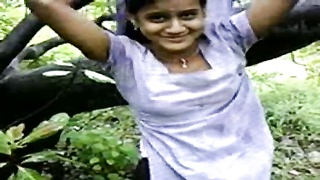 Indian bf undress girl-friend in forest